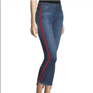 Joie Red Stripe Denim Jeans